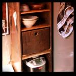食器棚 スライド式炊飯器置き