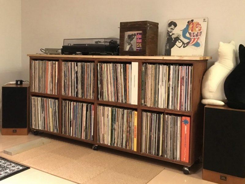 レコード & マガジン キャビネット 1